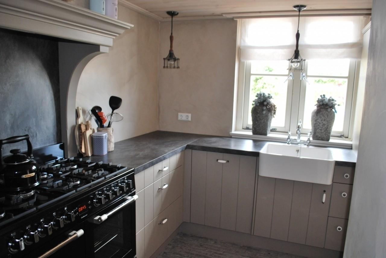 Complete Keuken Met Kast Voor Wasmachine Droger En Cv